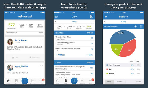 MyFitnessPal screenshots