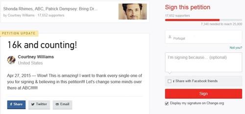 Peticao Online contra morte Derek