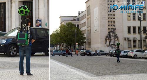 Google Street View Backpack Trekker na Universidade de Coimbra [en] Google Street View Backpack Trekker at the Universidade of Coimbra in Portugal