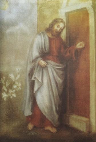 Jesus bate à nossa porta - pintado por Santa Tere