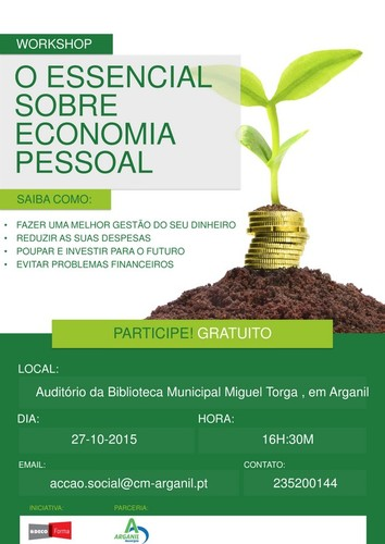 cartaz workshop _ o essencial sobre economia pesso