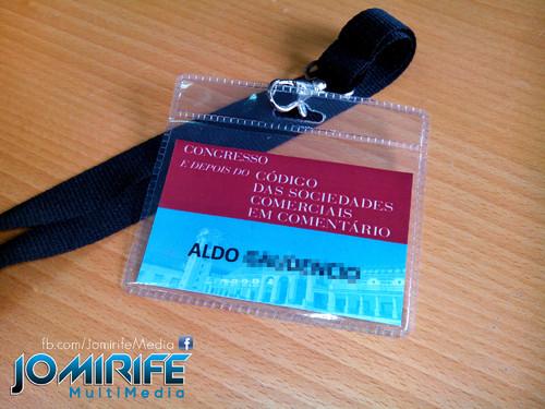 Crachás para pessoas autorizadas num Congresso | Badges to authorized persons in Congress