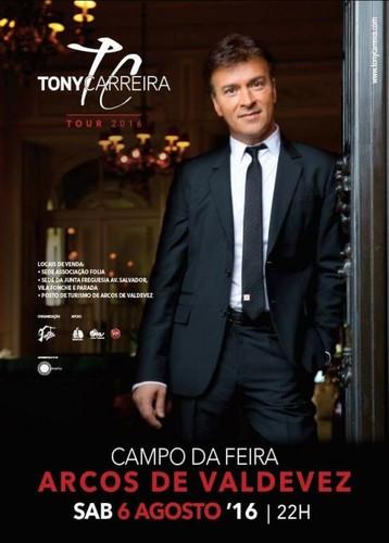 Tony Carreira a 6 de Agosto de 2016 em Arcos de Valdevez
