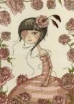 Mirabelle - Menina com vestido Rosa