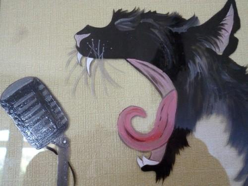 decorations-murales-cadre-chat-chanteur-1683209-p1
