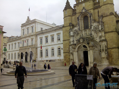 Praça 8 de Maio em frente da Igreja da Santa Cruz e Câmara Municipal de Coimbra [en] Square May 8 in front of the Church of Santa Cruz and town hall of Coimbra in Portugal