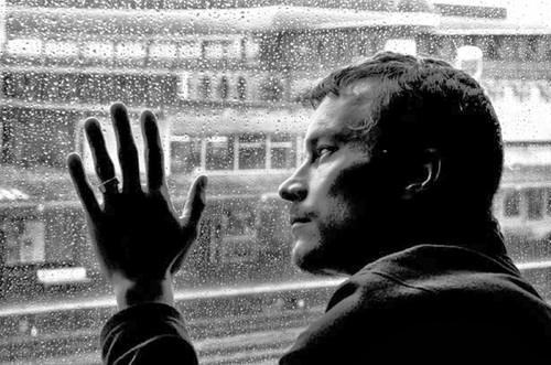 Sad love  sad boy alone man alone in dark black ro