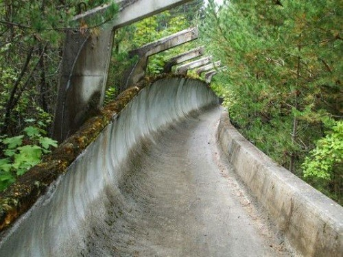 Bobsled track from the 1984 Winter Olympics track