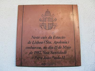 Placa Comemorativa Viagem Papa João Paulo II