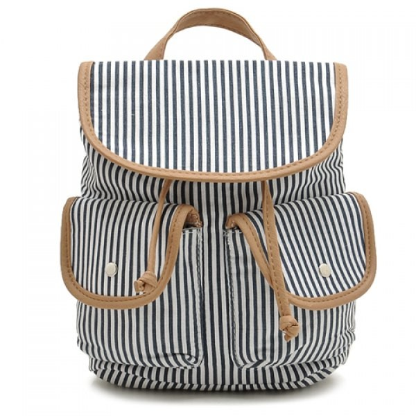 Casual String and Stripes Design Women's Satchel.j