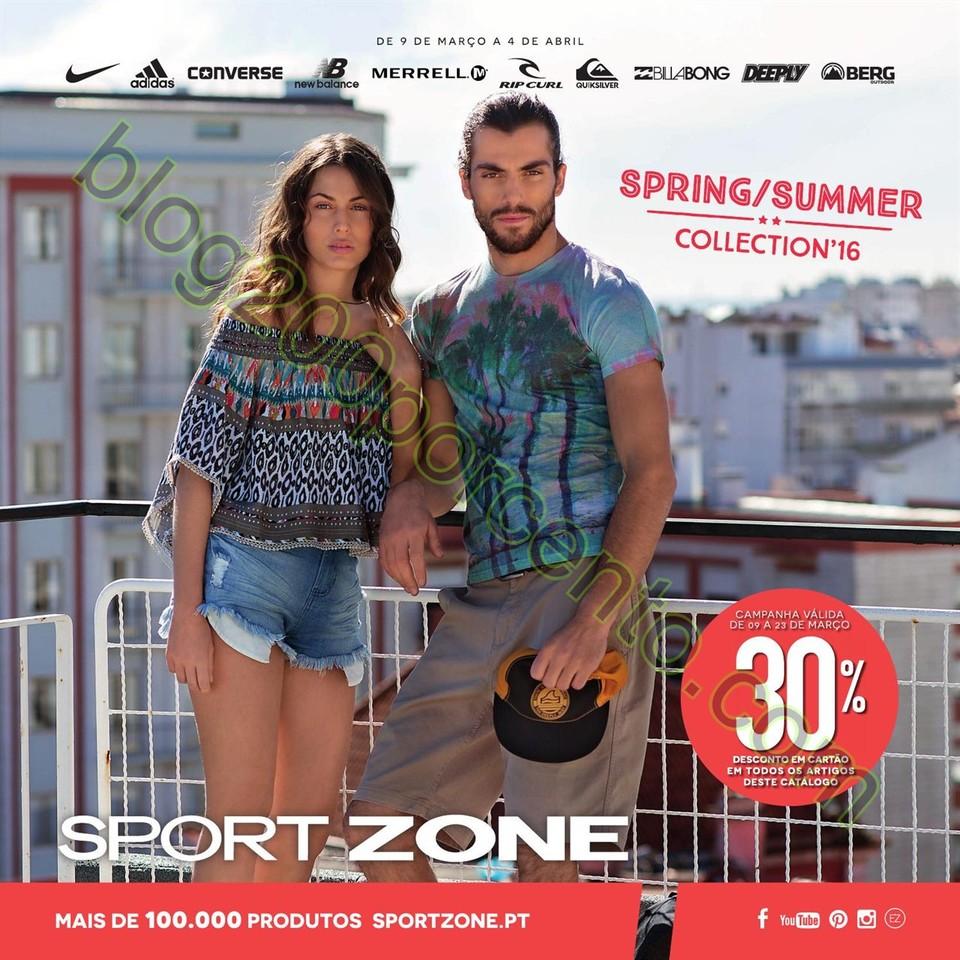 Novo Folheto SPORT ZONE promoções de 9 março a