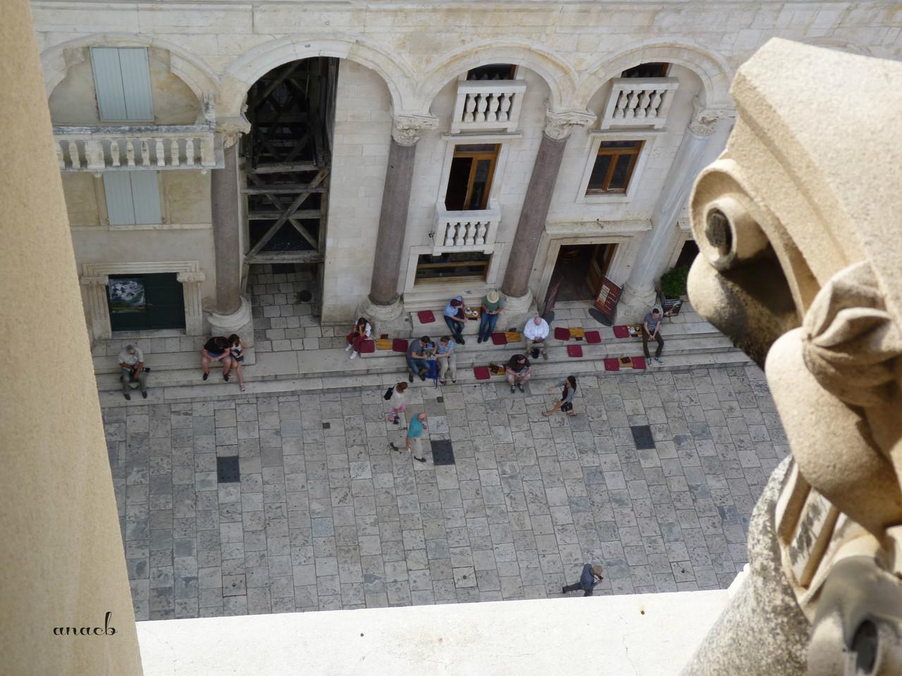 Croácia-Split-o Peristilo visto da Torre do Sino
