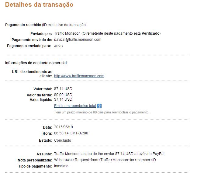 Trafficmonsoon PTC TOP+ 100% confiavel Paga instantaneo atravez de paypal 18553228_mL7lz