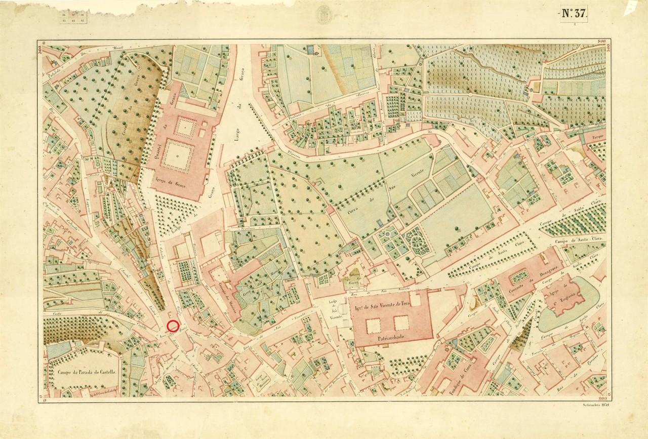 Atlas da carta topográfica de Lisboa N 37, de Fil