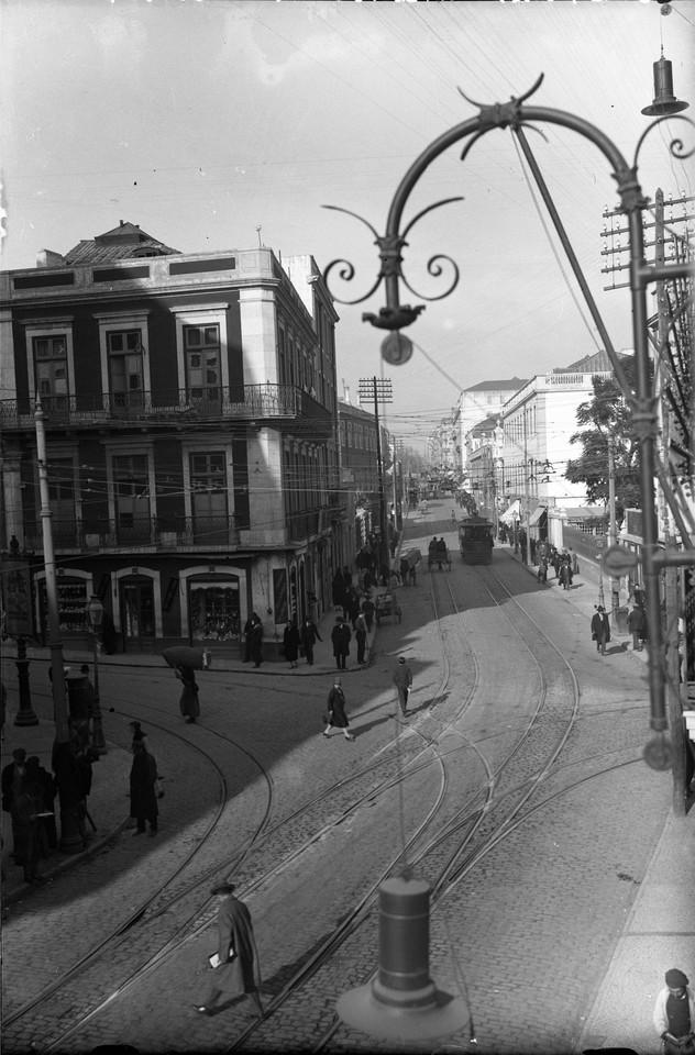 Panorâmica tirada do Teatro Apolo sobre a Rua da