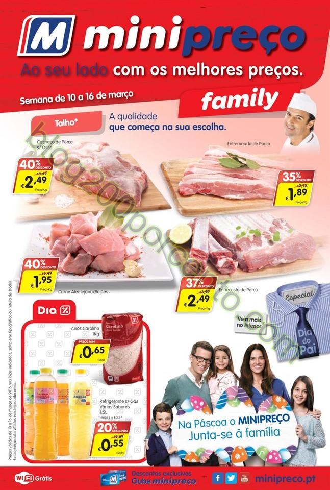Antevisão Folheto MINIPREÇO Family de 10 a 16 ma