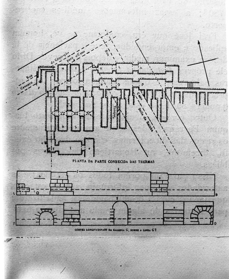 Desenho das galerias romanas, foto de Eduardo Port