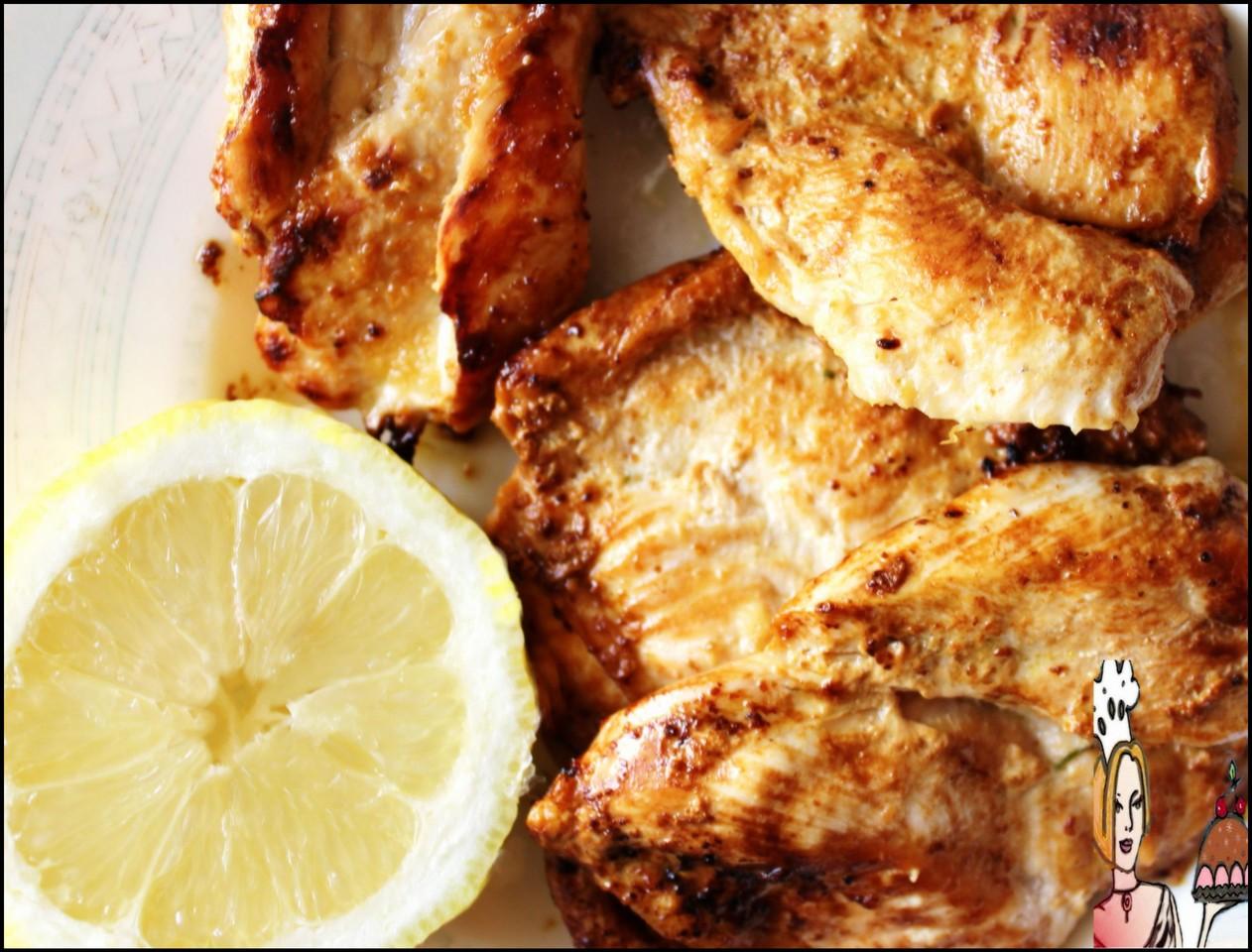 Bifes de frango com manteiga de limão