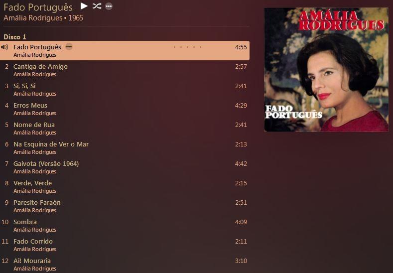 Amália Rodrigues, «Fado Português» (EMI - VC 1970)