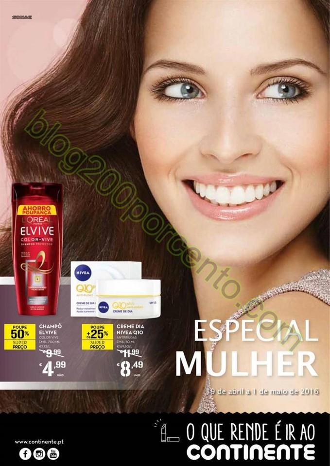 Antevisão Folheto CONTINENTE Mulher promoções d