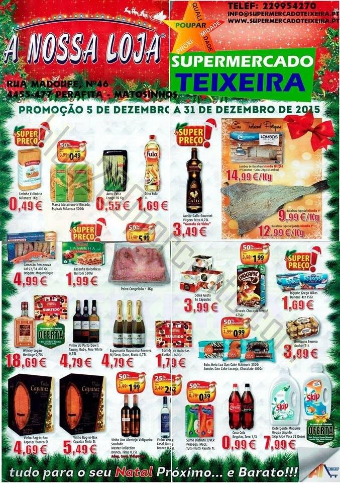 Antevisão Folheto A NOSSA LOJA Natal promoções