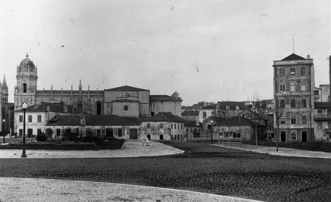 Praça do Império  panorâmica anterior à exposi