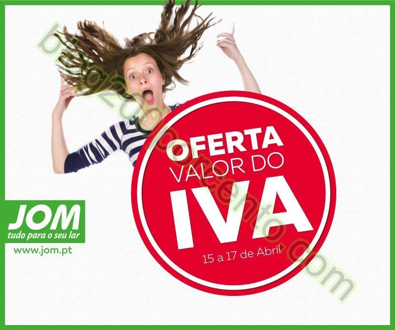 Antevisão oferta do valor do iva JOM promoções