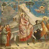 Giotto Scrovegni 20 Flight into Egypt  In wikipédia