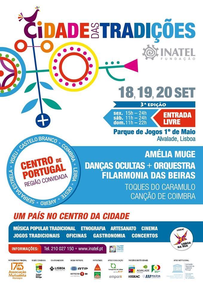 Cartaz da festa anual do INATEL-Cidade das Tradiç