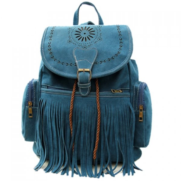 Retro Engraving and Fringe Design Women's Satchel.