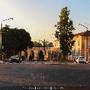 Nascer do sol na Universidade Coimbra Aqueduto