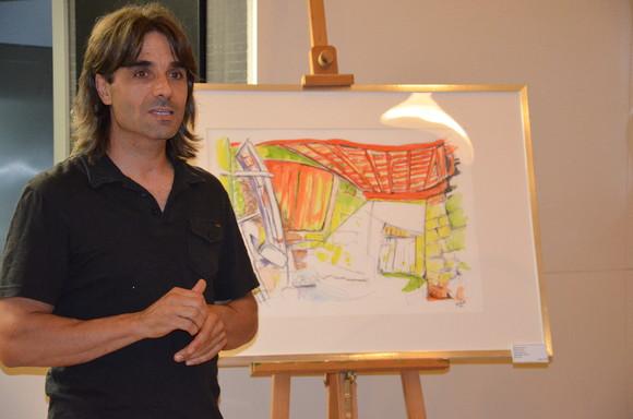 Exposição de pintura 'Metamorphosis' do arti