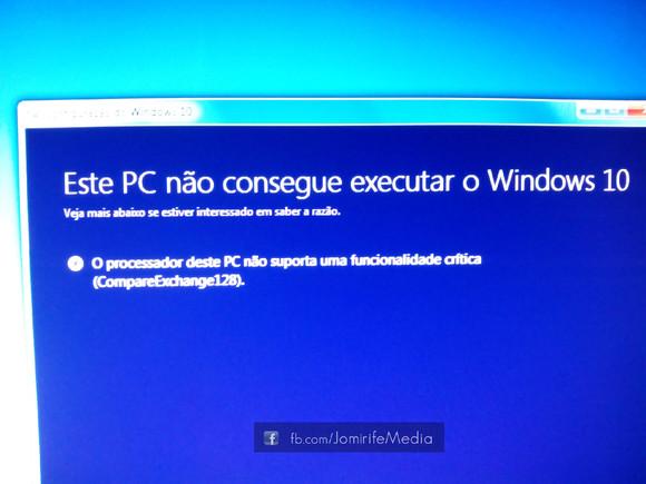 Erro CompareExchange128 do Windows10