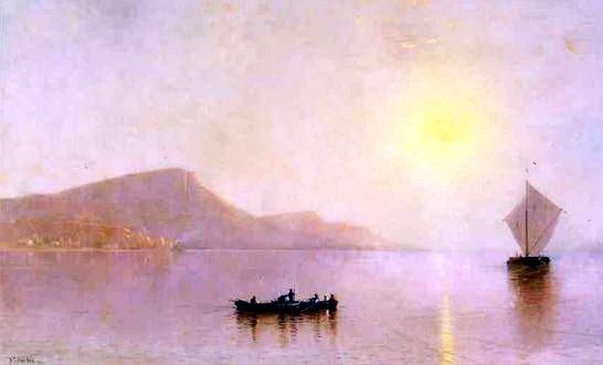 Alfred Thompson Bricher - Sunset over the Palisade