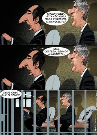 Cartoons - José Sócrates em prisão preventiva