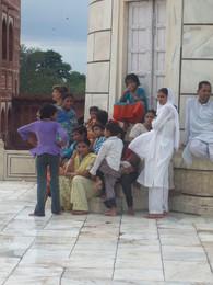 Família  - ao lado do Taj Mahal