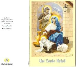 Um Santo Natal. Digitalização de cartão de Natal de APBP, Artistas Pintores com a Boca e o Pé.