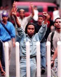 Manifestações em Jakarta