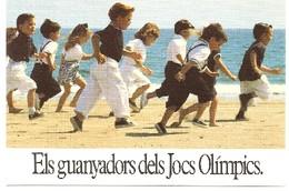 jogos olímpicos 1992. digitalização de postal jpg