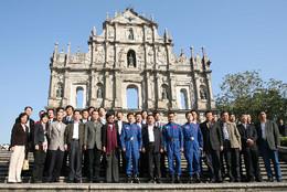 China Astronautas Visitam Macau