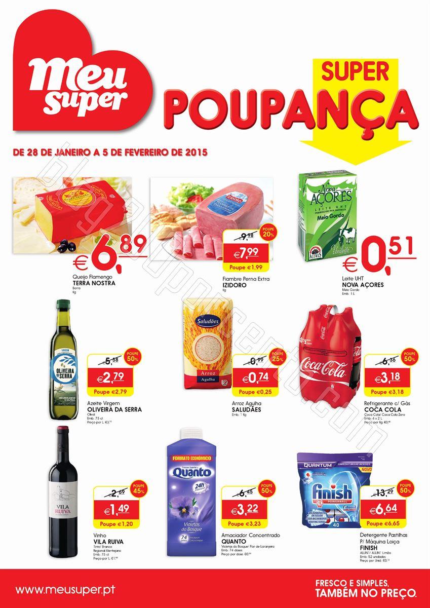 Novo Folheto MEU SUPER promoções de 28 janeiro a