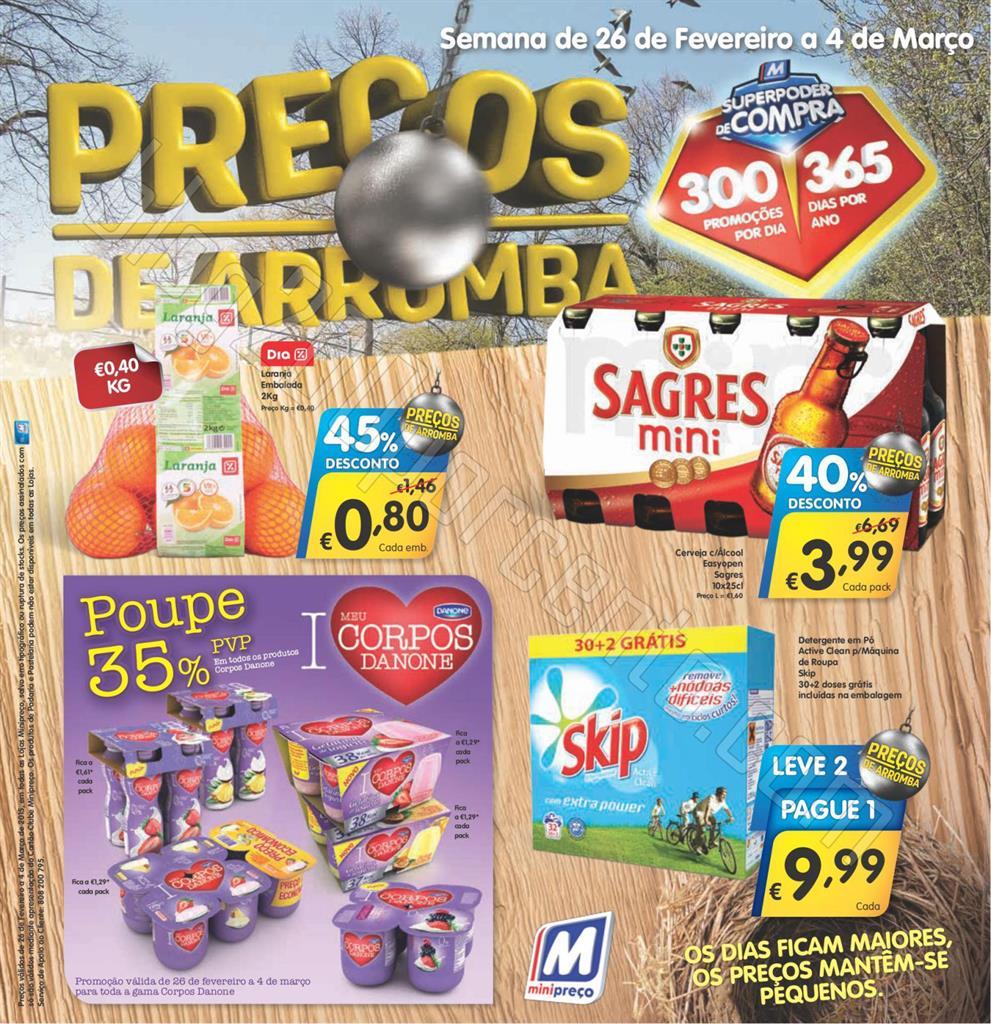 Antevisão Folheto MINIPREÇO de 26 fevereiro a 4