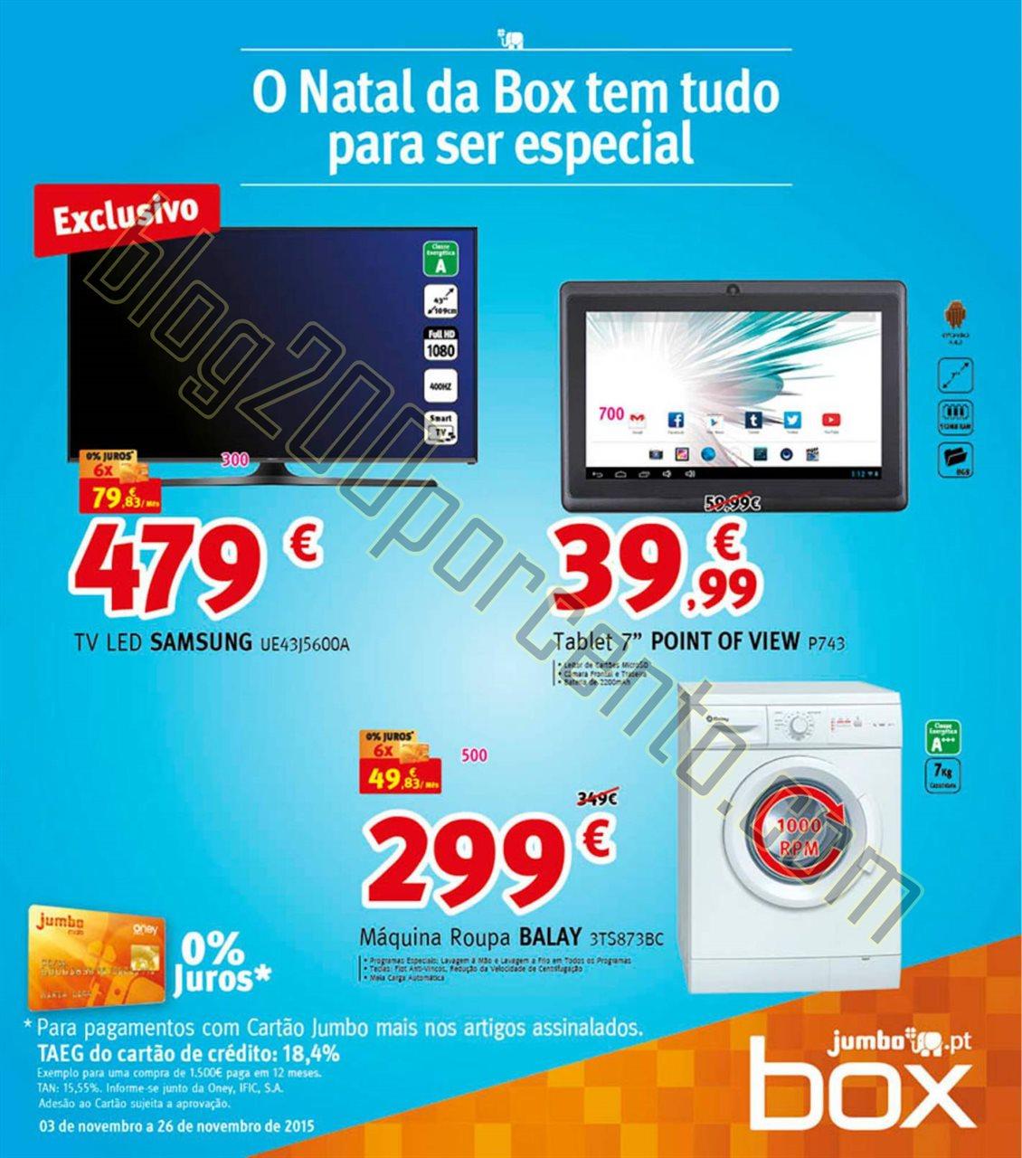 Antevisão Folheto JUMBO - BOX Natal promoções d