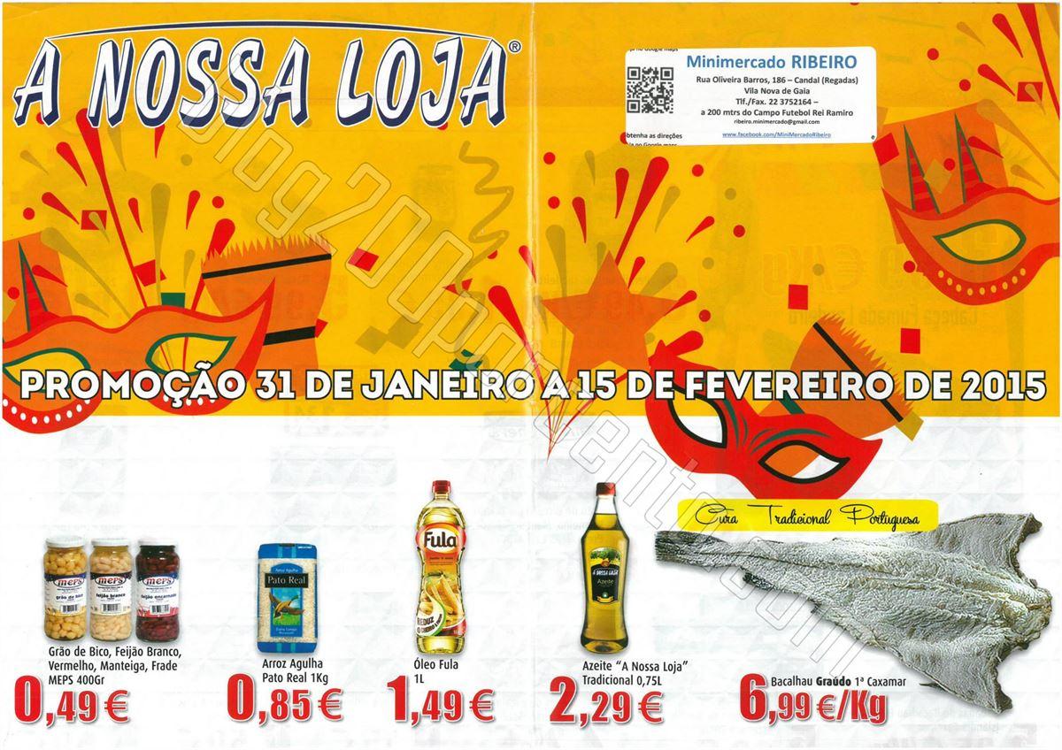 Antevisão Folheto A NOSSA LOJA de 31 janeiro a 15
