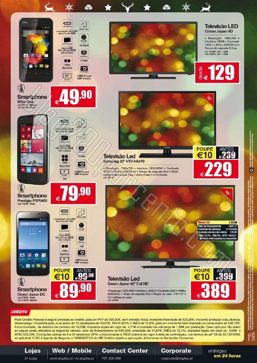 Novo Folheto STAPLES Natal de 9 a 24 dezembro p4.j