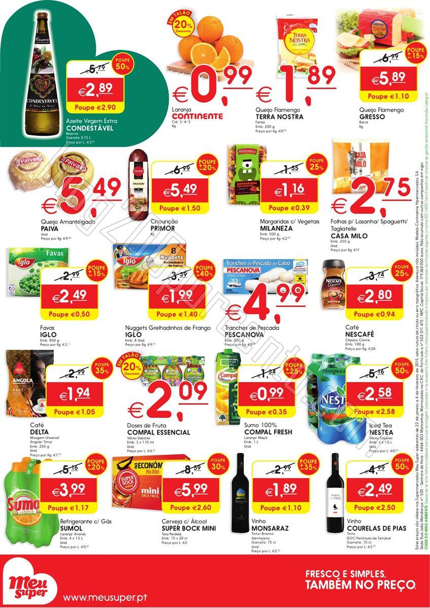 Novo Folheto MEU SUPER Promoções de 22 janeiro a