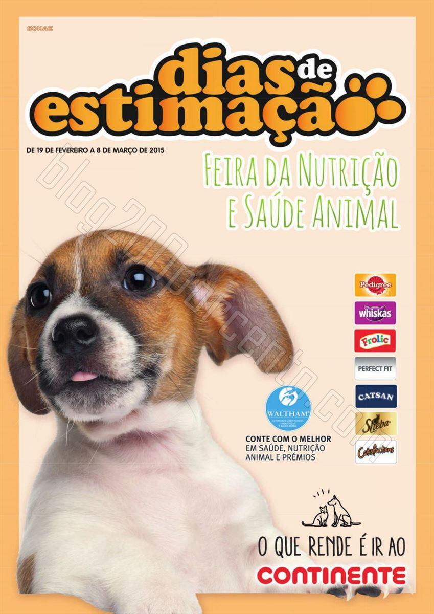Antevisão Folheto CONTINENTE Feira Animal de 19 f