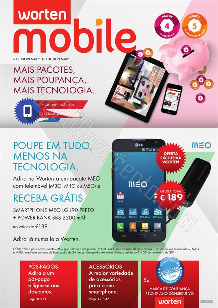 Novo Folheto WORTEN Mobile de 6 novembro a 3 dezem