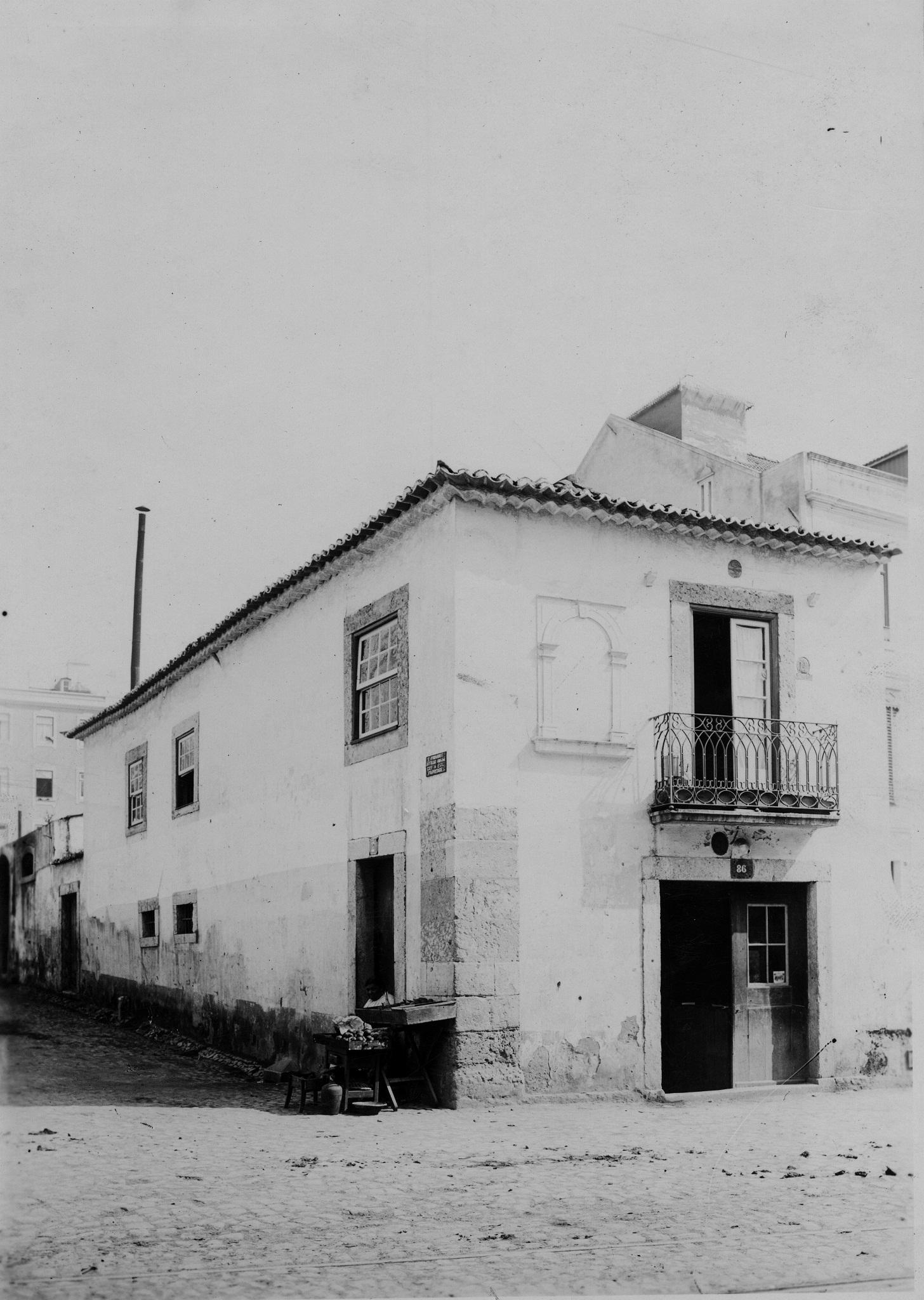 Nicho da imagem, Rua de Arroios, 86 (A.P.C.M.L., c. 1900; A1300