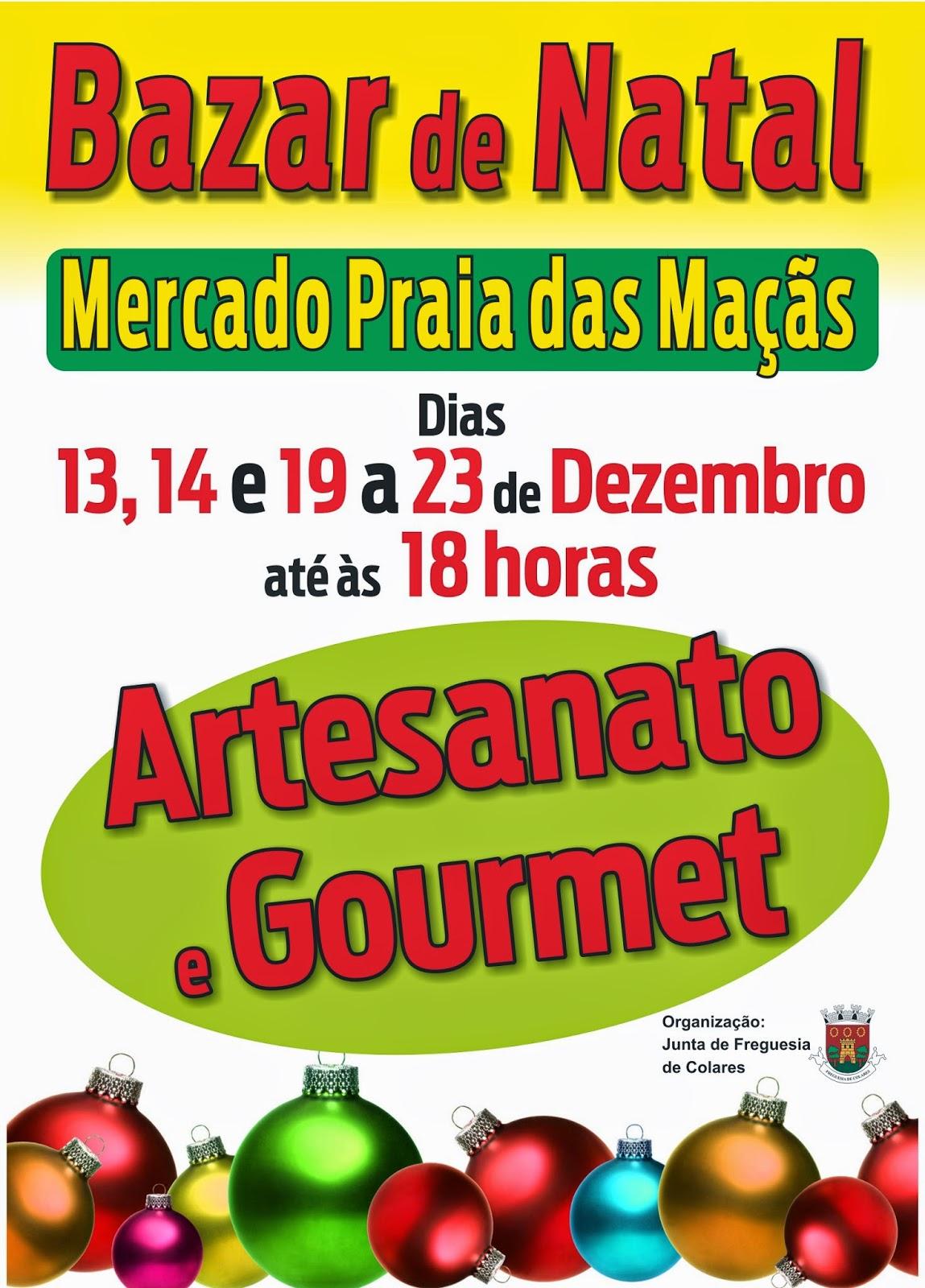 Bazar de Natal artesanado e gourmet freguesia de c